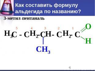 Как составить формулу альдегида по названию?
