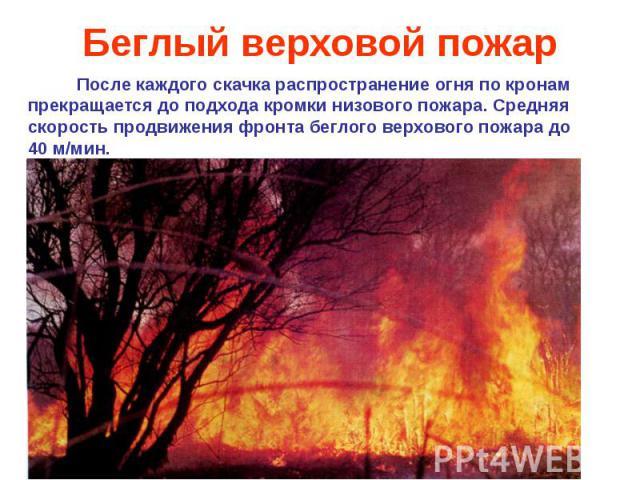 Беглый верховой пожар
