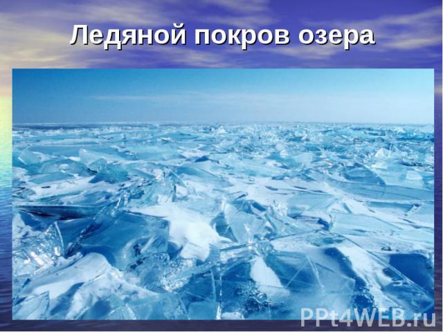 Ледяной покров озера