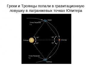 Греки и Троянцы попали в гравитационную ловушку в лагранжевых точках Юпитера
