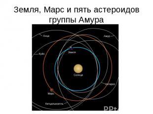 Земля, Марс и пять астероидов группы Амура