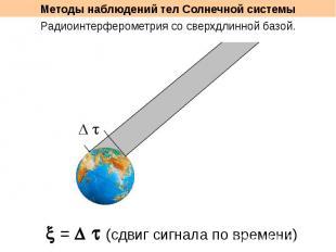 Методы наблюдений тел Солнечной системы