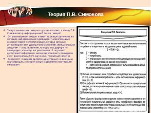 Теория П.В. Симонова