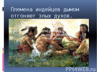 Племена индейцев дымом отгоняют злых духов.