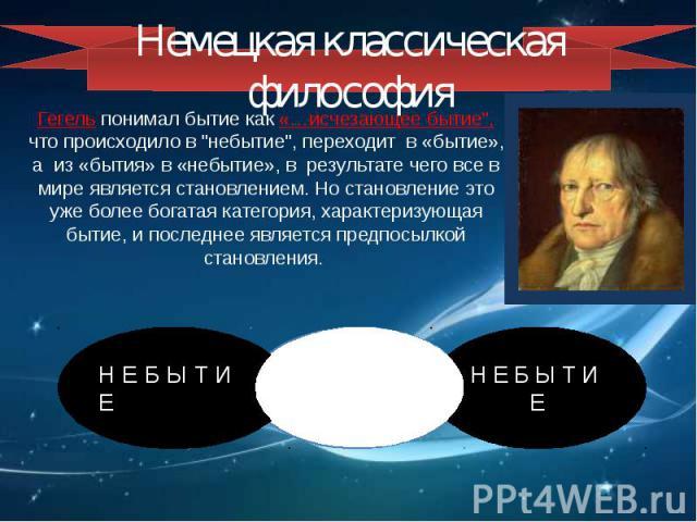 Немецкая классическая философия