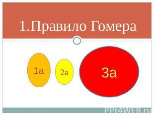 1.Правило Гомера