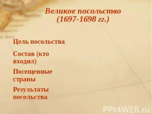 Великое посольство (1697-1698 гг.)