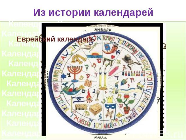 Из истории календарей