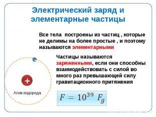 Электрический заряд и элементарные частицы