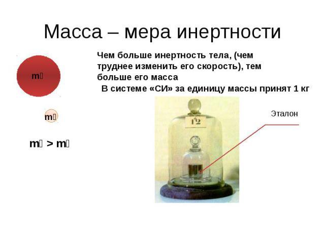 Масса – мера инертности