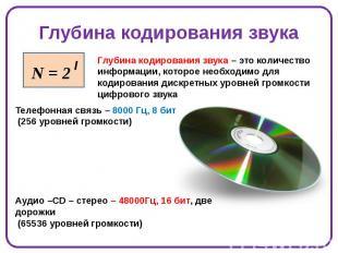 Глубина кодирования звука