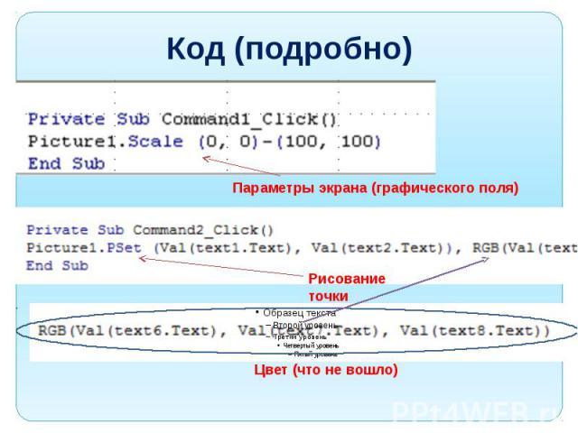 Код (подробно)