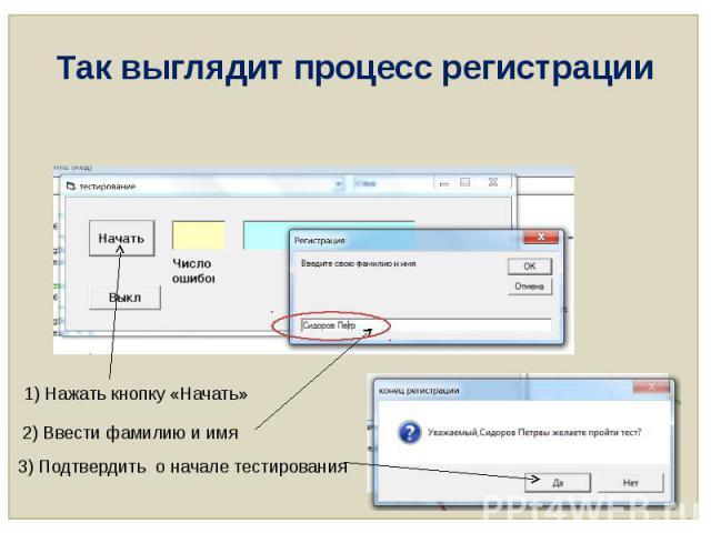 Так выглядит процесс регистрации