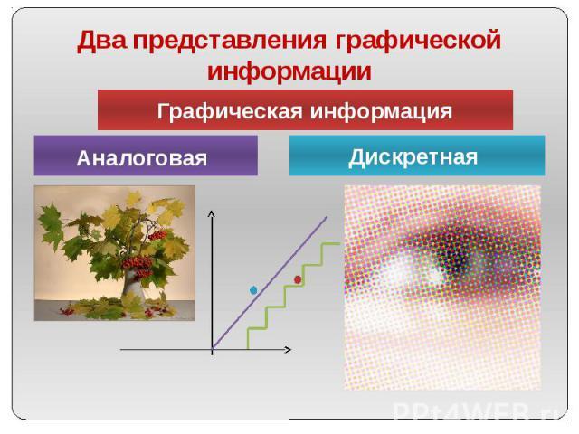 Два представления графической информации
