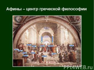 Афины – центр греческой философии