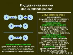 Индуктивная логика Modus tollendo ponens