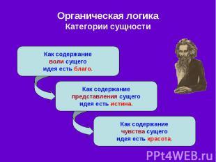 Органическая логика Категории сущности
