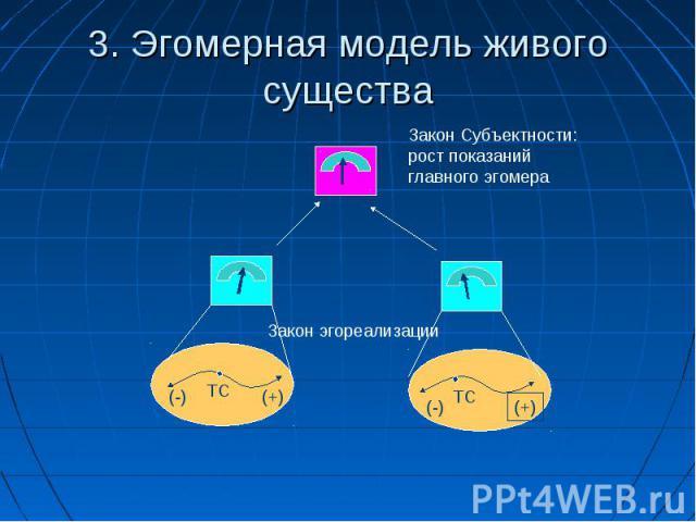 3. Эгомерная модель живого существа