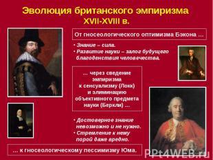 Эволюция британского эмпиризма XVII-XVIII в.