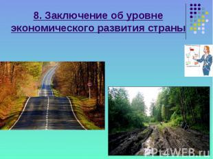 8. Заключение об уровне экономического развития страны