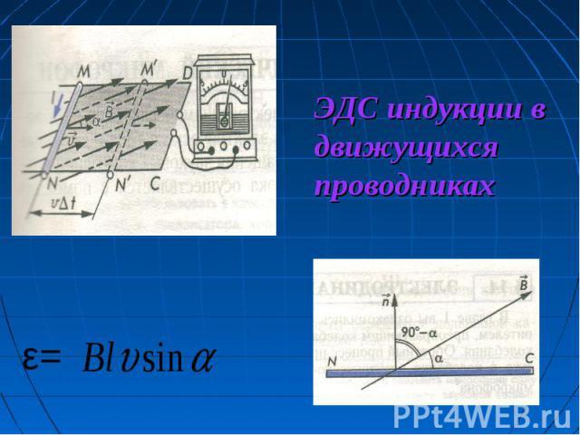 ЭДС индукции в движущихся проводниках ε=