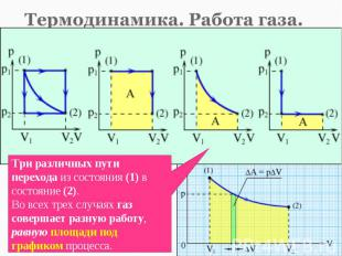 Если газ подвергается сжатию в цилиндре под поршнем, то внешние силы совершают н