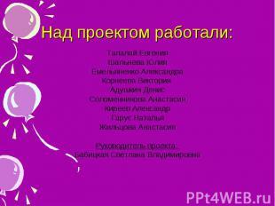 Талалай Евгения Талалай Евгения Шальнева Юлия Емельяненко Александра Корнеева Ви