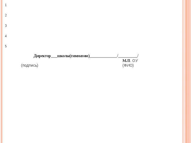 Список Список учащихся (юношей) 10 классов средней школы (гимназии) № Советского района г. Казани направляемых для прохождения учебных сборов