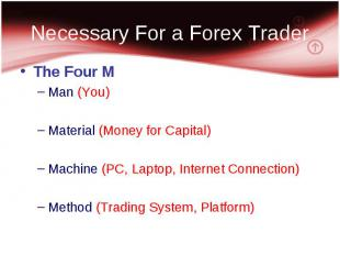 The Four M The Four M Man (You) Material (Money for Capital) Machine (PC, Laptop