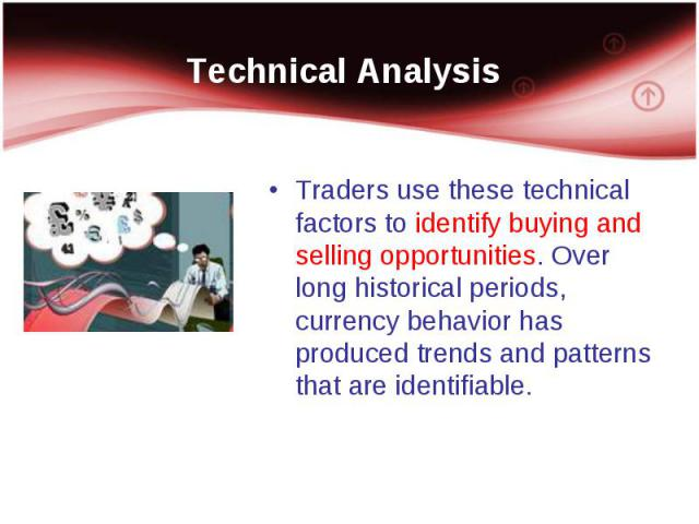 Traders use these technical factors to identify buying and selling opportunities. Over long historical periods, currency behavior has produced trends and patterns that are identifiable. Traders use these technical factors to identify buying and sell…