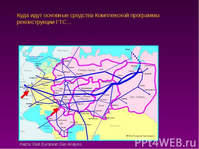 Куда идут основные средства Комплексной программы реконструкции ГТС…