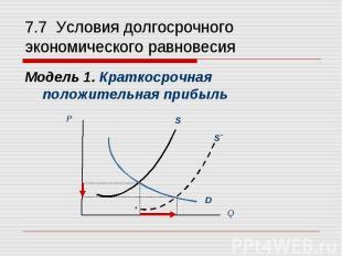 Модель 1. Краткосрочная положительная прибыль Модель 1. Краткосрочная положитель