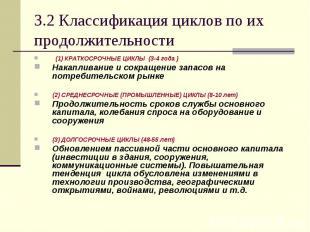 (1) КРАТКОСРОЧНЫЕ ЦИКЛЫ (3-4 года ) (1) КРАТКОСРОЧНЫЕ ЦИКЛЫ (3-4 года ) Накаплив