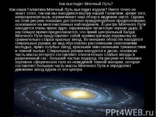 Как наша Галактика Млечный Путь выглядит издали? Никто точно не знает этого, так