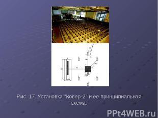 """Рис. 17. Установка """"Ковер-2"""" и ее принципиальная схема."""