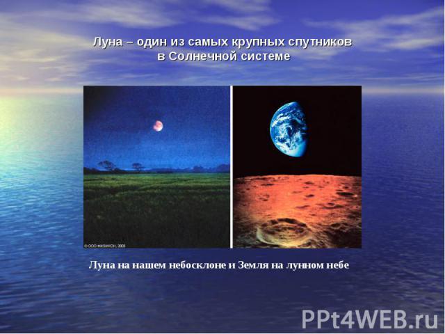 Луна – один из самых крупных спутников в Солнечной системе