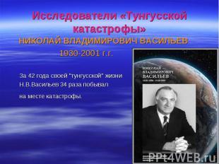 НИКОЛАЙ ВЛАДИМИРОВИЧ ВАСИЛЬЕВ НИКОЛАЙ ВЛАДИМИРОВИЧ ВАСИЛЬЕВ 1930-2001 г.г. За 42