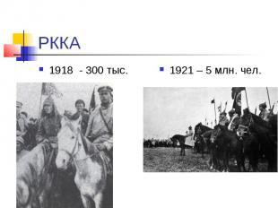 РККА 1918 - 300 тыс.