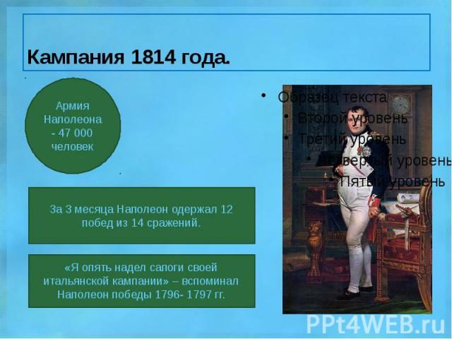 Кампания 1814 года.
