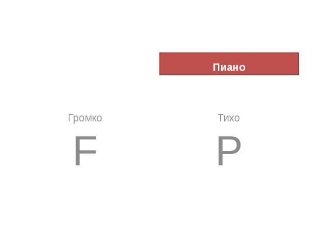 Фортепиано Форте