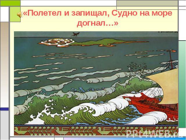 «Полетел и запищал, Судно на море догнал…»