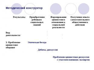 Методический конструктор