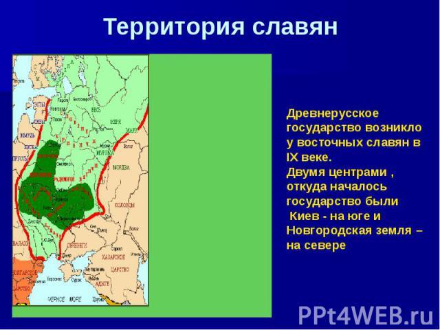 Территория славян