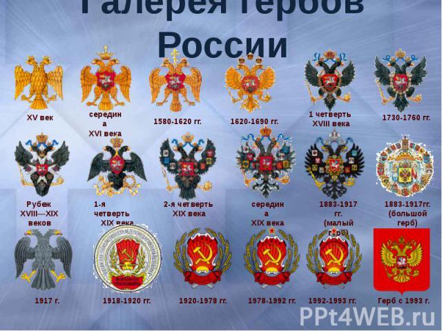 Галерея гербов России