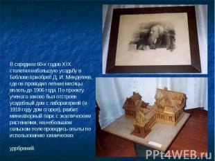В середине 60-х годов XIX столетия небольшую усадьбу в Боблове приобрел Д. И. Ме