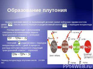 Образование плутония