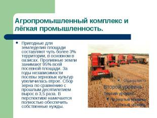 Агропромышленный комплекс и лёгкая промышленность. Пригодные для земледелия площ