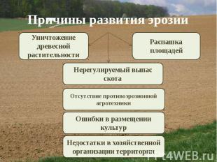 Причины развития эрозии