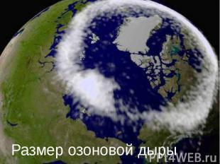 Размер озоновой дыры