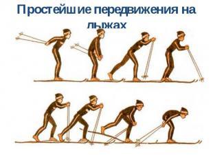 Простейшие передвижения на лыжах